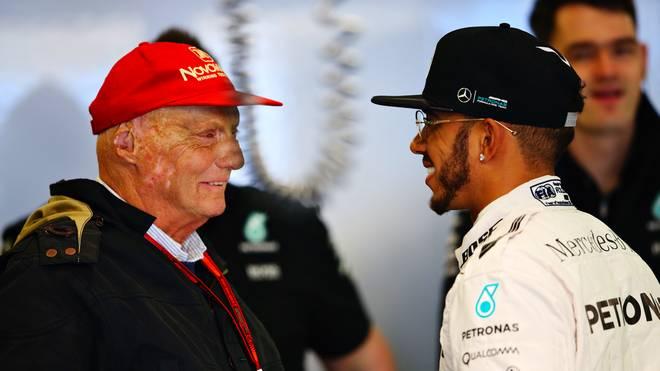 Auch Lewis Hamilton wünschte Nili Lauda schnelle Genesung