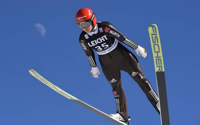 Carina Vogt wurde in Rasnov Zweiter