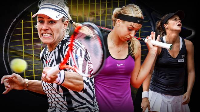 Anglique Kerber (l.) und Sabine Lisicki (m.) schieden bei den French Open bereits in Runde eins