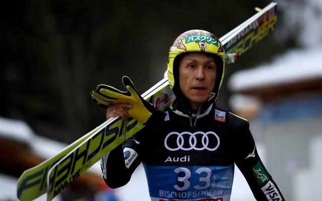 Noriaki Kasai feierte in dieser Saison seine 27. Vierschanzentournee-Teilnahme