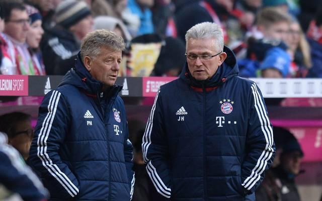 Bei seinem Comeback 2017 bestand Jupp Heynckes darauf, Peter Hermann (l.) als Co-Trainer zu bekommen