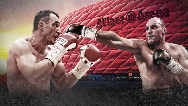 Der Rückkampf zwischen Klitschko (l.) und Fury wird nicht in der Allianz Arena stattfinden