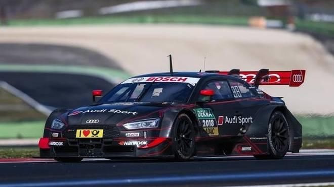 DTM-Champion Rene Rast testete den neuen DTM-Audi in Vallelunga