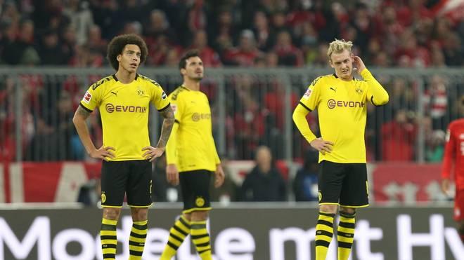Axel Witsel, Mats Hummels und Julian Brandt vom BVB bei der Pleite beim FC Bayern