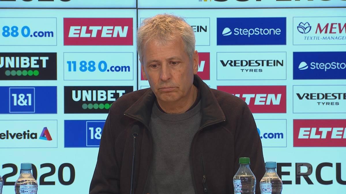 Lucien Favre ist nach der Supercup-Niederlage gegen die Bayern zufrieden mit seiner Mannschaft, hadert aber mit dem Chancenwucher seines Teams.