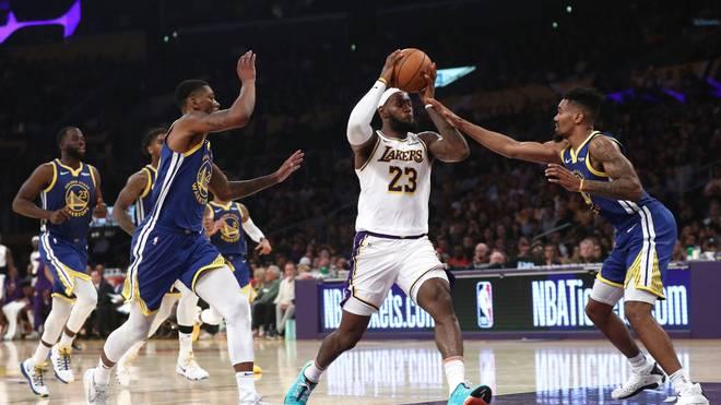LeBrons Lakers machen Warriors platt