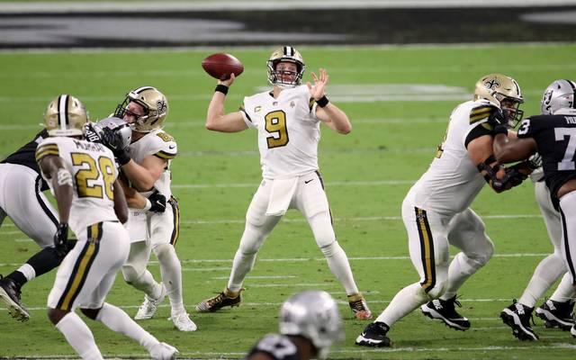 Drew Brees und die New Orleans Saints verloren im Monday Night Game gegen die Las Vegas Raiders