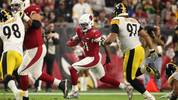 GLENDALE, ARIZONA - DECEMBER 08: Running back David Johnson #31 of the Arizona Cardinals rushes the football against the Pittsburgh Steelers during the NFL game at State Farm Stadium on December 08, 2019 in Glendale, Arizona. The Steelers defeated the Cardinals 23-17. (Photo by Christian Petersen/Getty Images)