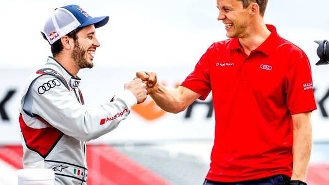 Andrea Dovizioso und Coach Ekström: Ohne ihn würde er nicht DTM fahren