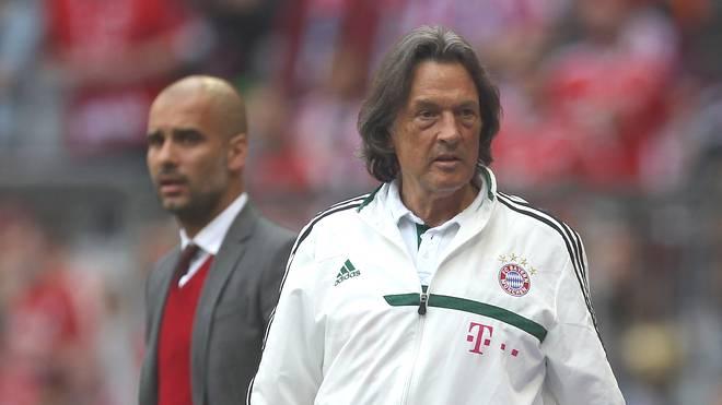 Pep Guardiola (l.) mit Dr. Hans-Wilhelm Müller-Wohlfahrt