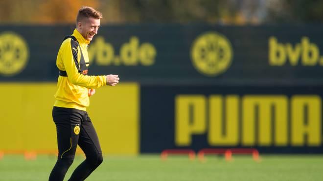 Marco Reus von Borussia Dortmund macht nach seinem Kreuzbandriss Fortschritte