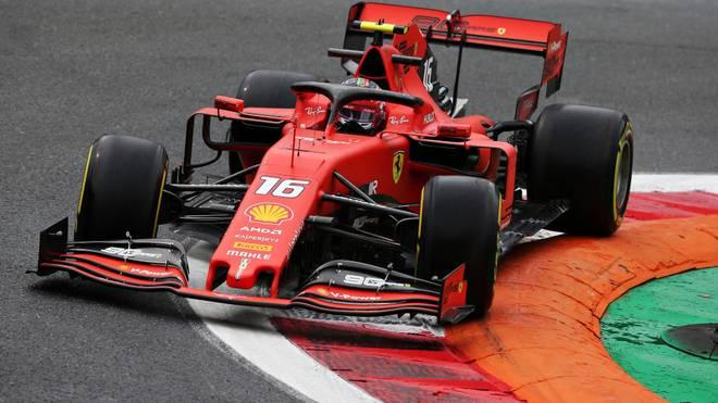 Charles Leclerc war im Training der schnellste Fahrer in Monza