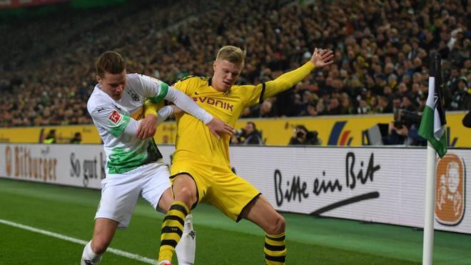 Erling Haaland (r.) hat in Dortmund Vertrag bis 2024