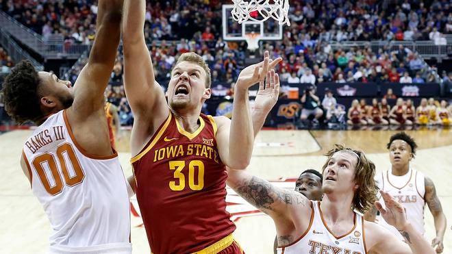 Basketball: MHP Riesen Ludwigsburg holen Hans Brase und David Brembly, Hans Brase (mitte) spielte 2018 für Iowa State Universität