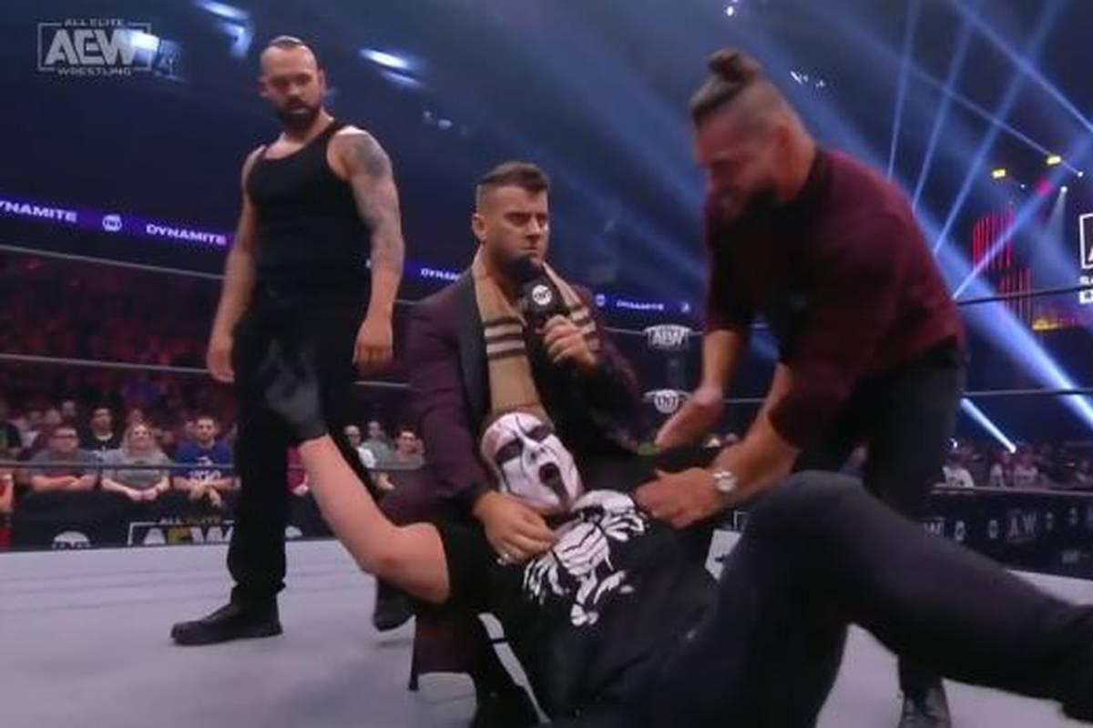 Bei AEW Dynamite wird Wrestling-Ikone Sting Opfer einer Attacke von Jungstar MJF. Der platziert auch fiese Anspielungen auf persönliche Dramen des Stingers.