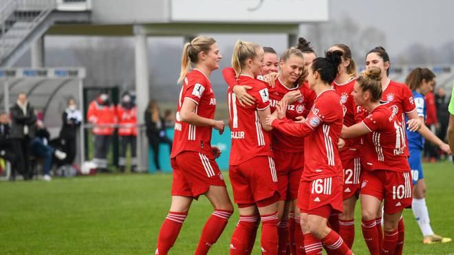 Die Frauen des FC Bayern sind mit einem 13:0-Sieg ins Fußballjahr 2021 gestartet