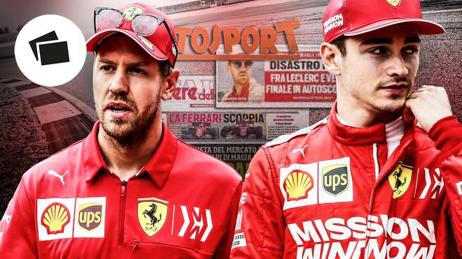 Sebastian Vettel (l.) und Charles Leclerc (r.) kollidierten in Brasilien