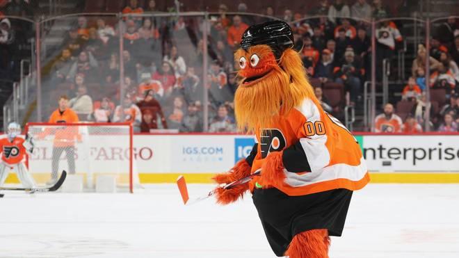 """Wurde vor zwei Jahren von den Philadelphia Flyers neu präsentiert: Maskottchen """"Gritty"""""""