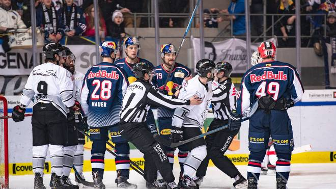 Der EHC Red Bull München gewann das bayerische Derby gegen Nürnberg