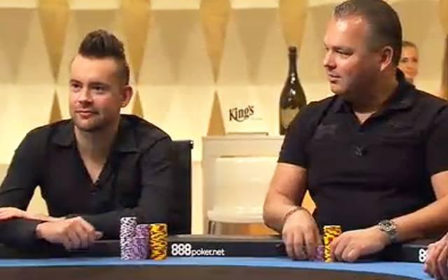 Auch George Danzer (l.) und Jan-Peter Jachtmann sitzen am Cashgame-Tisch