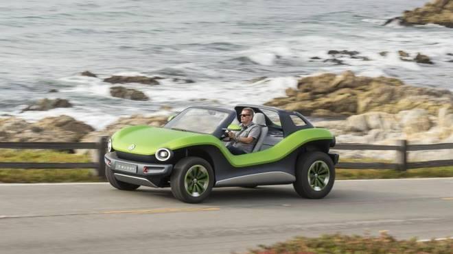 Für Fahrten entlang der kalofornischen Küste ist der ID Buggy das ideal Gefährt