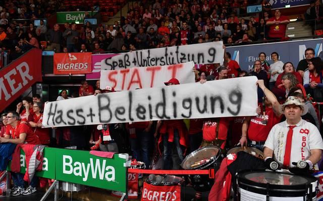 Die Fans der Bayern-Basketballer setzen sich aktiv gegen Hass ein