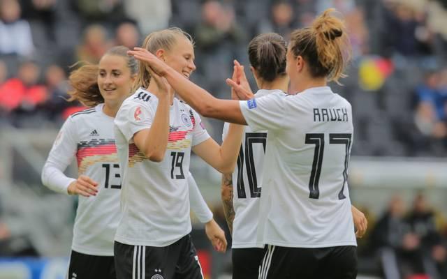 Die DFB-Frauen starteten mit drei Siegen in die EM-Quali
