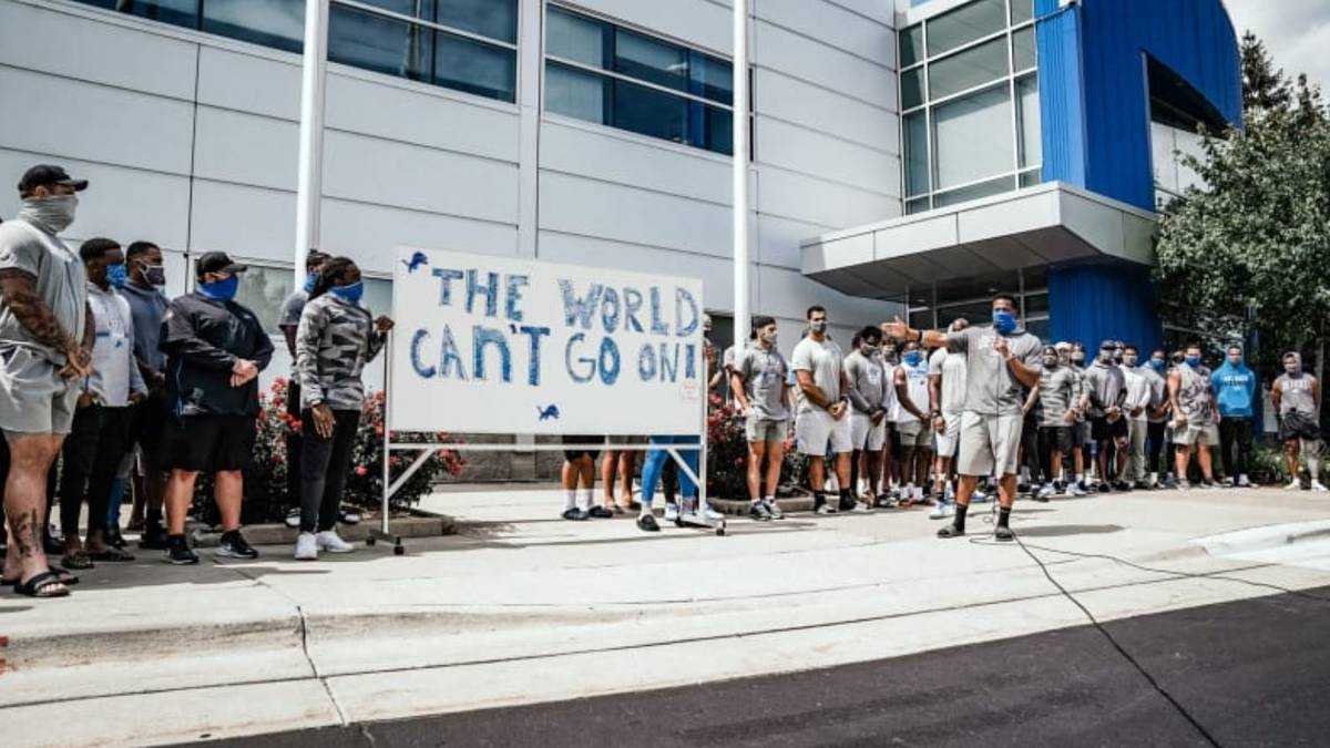 Die Detroit Lions haben ein Zeichen gegen rassistische Polizeigewalt gesetzt