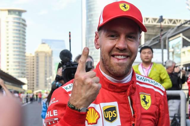 Sebastian Vettel zeigte bereits nach dem Qualifying seinen berühmten Vettel-Finger