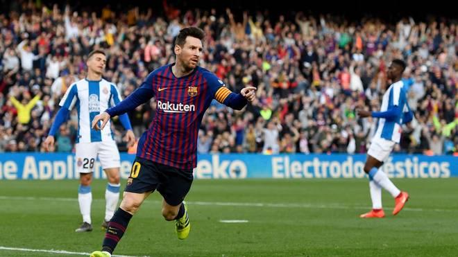 """Lionel Messi ist mit 25 Treffern Rekordtorschütze im """"Derbi Barceloní"""""""