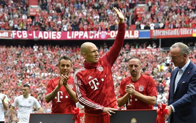 Arjen Robben, Franck Ribéry und Rafinha verlassen den FC Bayern nach der Saison