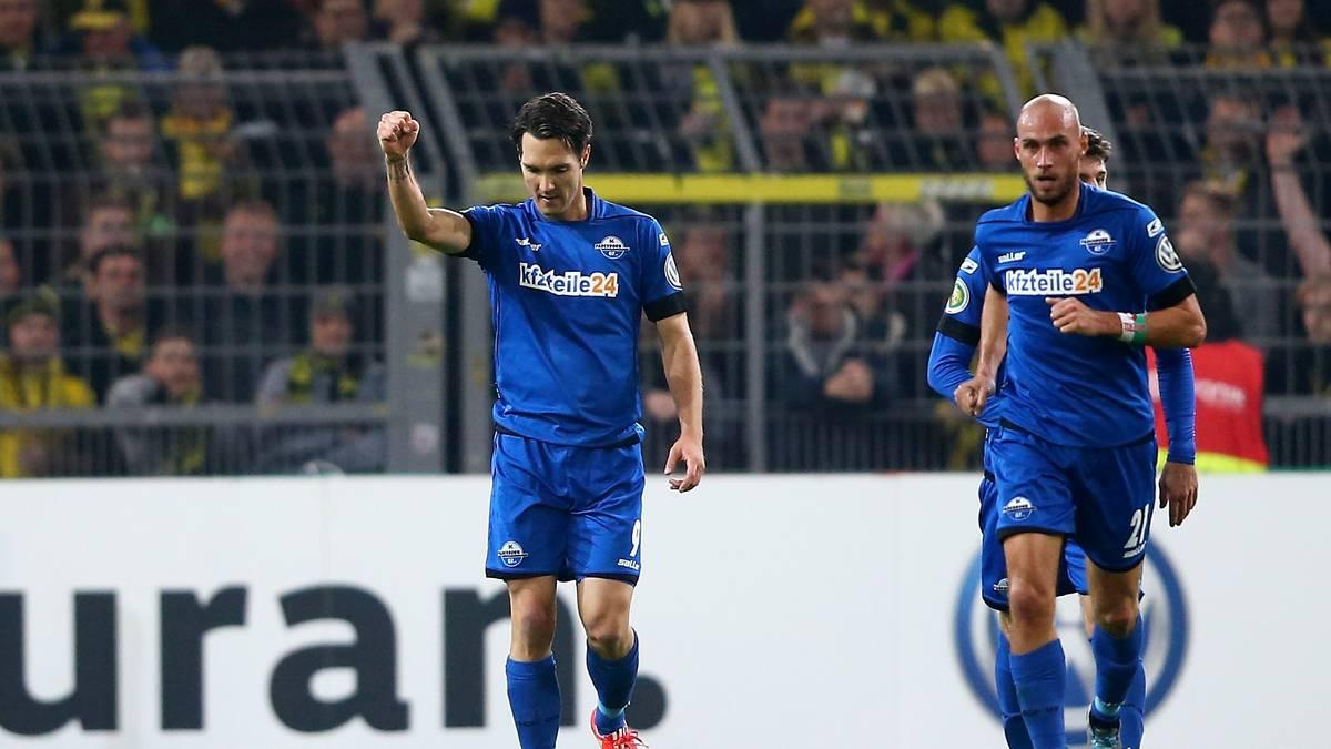 Srdjan Lakic und Daniel Brückner vom SC Paderborn