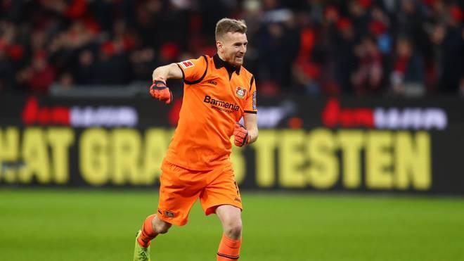 Lukas Hradecky von Bayer 04 Leverkusen freut sich auf die Champions League