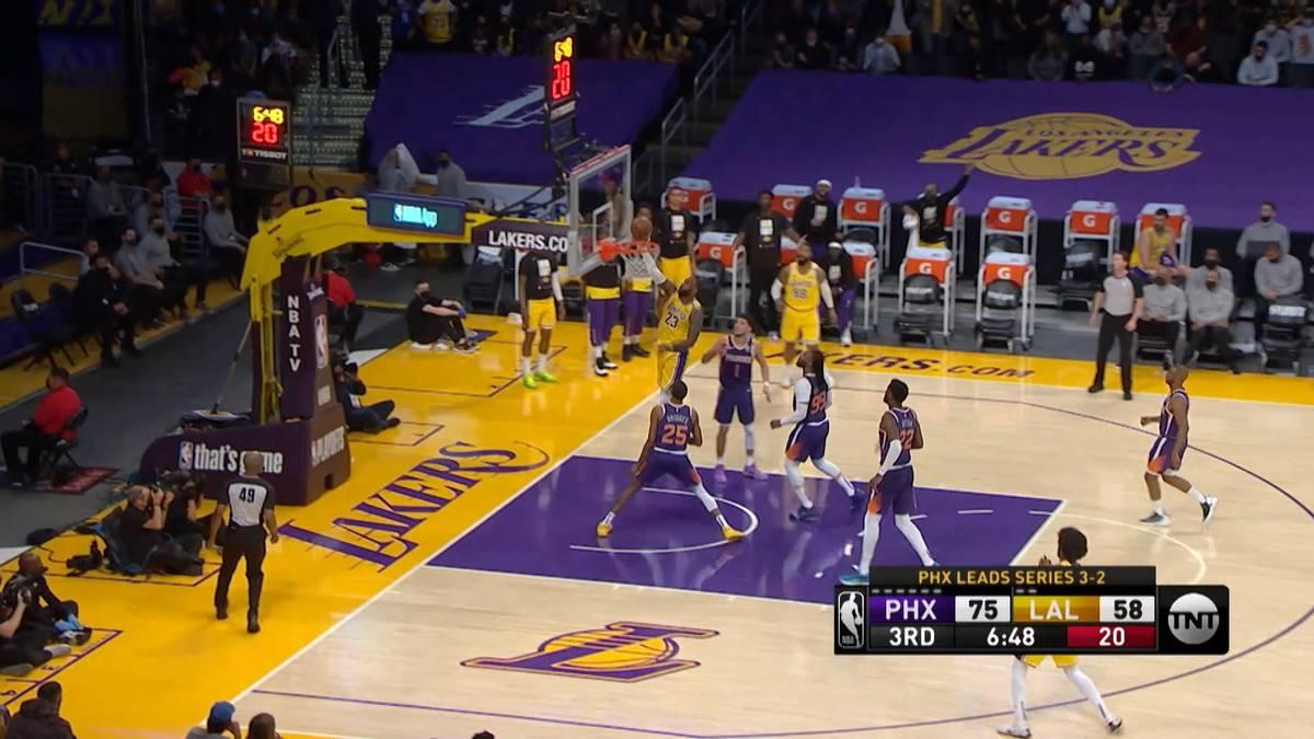 Die LA Lakers können ihren Titel in der NBA nicht mehr verteidigen. Gegen die Phoenix Suns setzt es die nächste Pleite. Ein historisches Playoff-Aus für LeBron James.