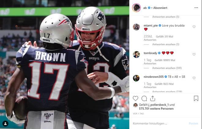 Antonio Brown, Tom Brady
