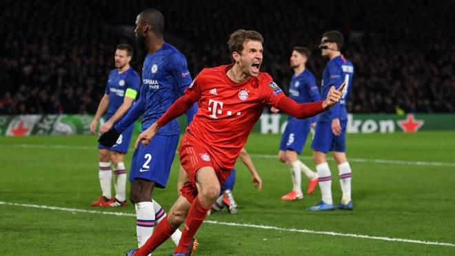 Der FC Bayern gewann das Achtelfinal-Hinspiel bei Chelsea mit 3:0