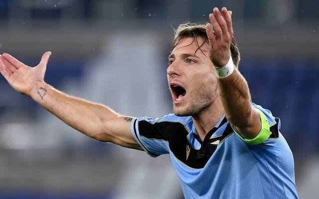 Ciro Immobile trifft mit Lazio Rom im Champions-League-Achtelfinale auf den FC Bayern