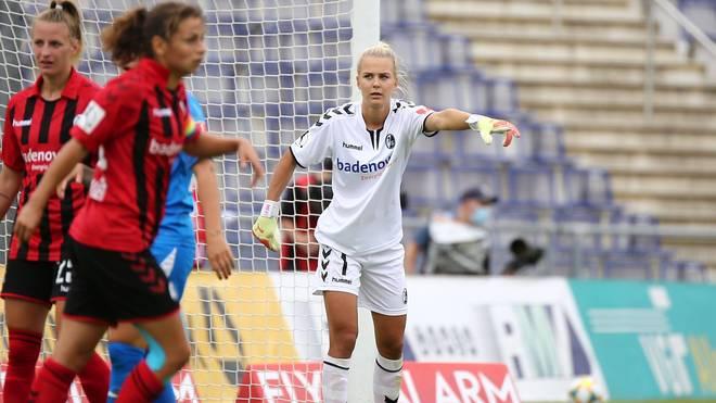 Merle Frohms spielte zuletzt für den SC Freiburg