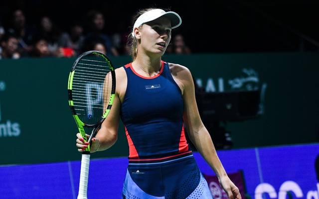 Caroline Wozniacki hat zum Aiuftakt der WTA-Finals eine krachende Niederlage kassiert
