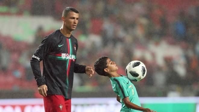 Cristiano Ronaldo will aus seinem Sohn Cristiano Junior unbedingt einen Fußball-Profi machen