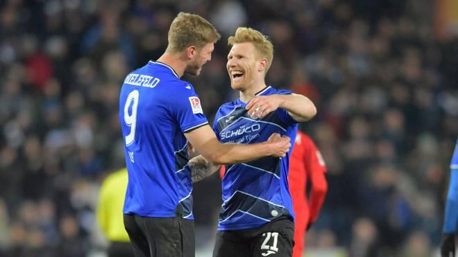 Fabian Klos und Andreas Voglsammer trafen für Bielefeld gegen Bochum