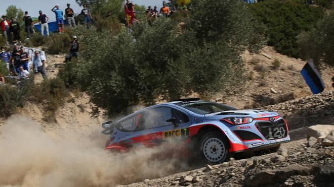 Thierry Neuville kostete Hyundai in Spanien wichtige Zähler