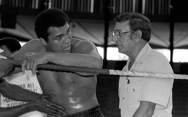 Muhammad Ali und sein Trainer Angelo Dundee