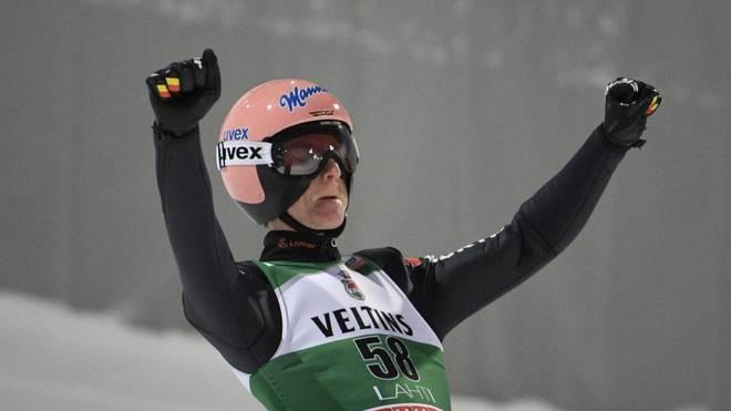 Karl Geiger wurde in Kuusamo Zweiter der Qualifikation