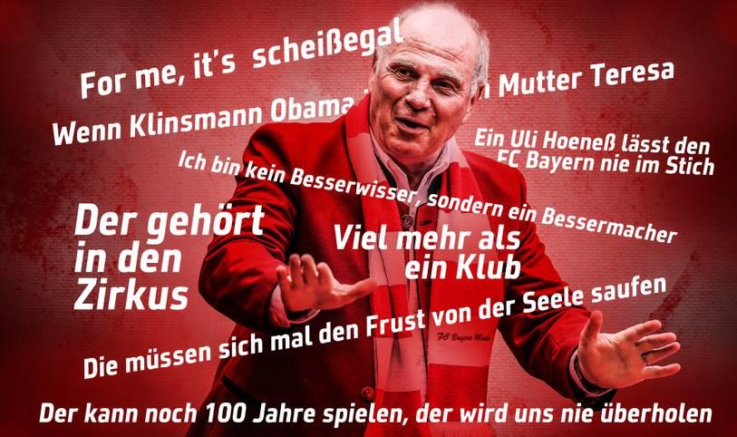 """""""Mit 66 Jahren, da fängt das Leben an"""", sang einst Udo Jürgens. Insofern dürfte Hoeneß ab heute richtig Gas geben, wenn er das nicht schon ausgiebig getan hätte. SPORT1 gratuliert mit Hoeneß' 66 besten Sprüchen"""