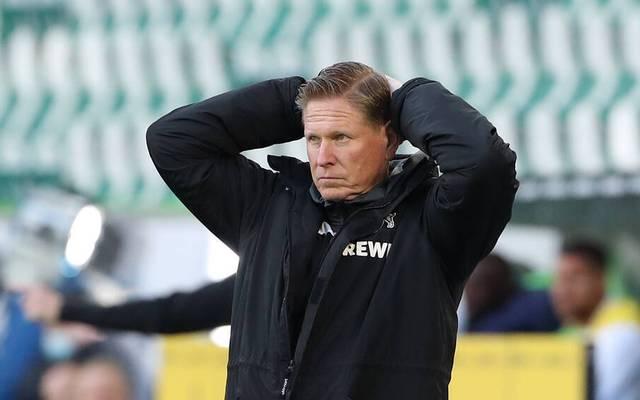 Trainer Markus Gisdol und der 1. FC Köln liegen auf dem Relegationsplatz