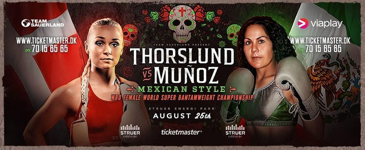 Am Samstag steigt auf SPORT1 die nächste Box-Gala. In Struer bestreitet Dina Thorslund (l.) gegen Yessica Munoz den Hauptkampf (ab 19 Uhr LIVE im TV auf SPORT1, im STREAM und auf Facebook). Die 24-Jährige ist bereits aktuelle Interims-Weltmeisterin der WBC in der Bantamgewichtsklasse