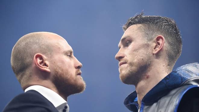 Callum Smith (r.) und Georges Groves kämpfen in Dschidda um den Titel
