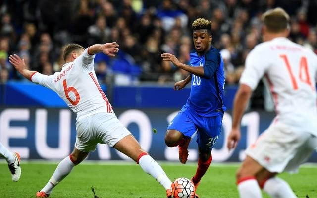 Kingsley Coman für Frankreich gegen Russland