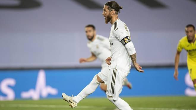 Sergio Ramos trat zum ersten Elfmeter an - und ihn Karim Benzema aufzulegen